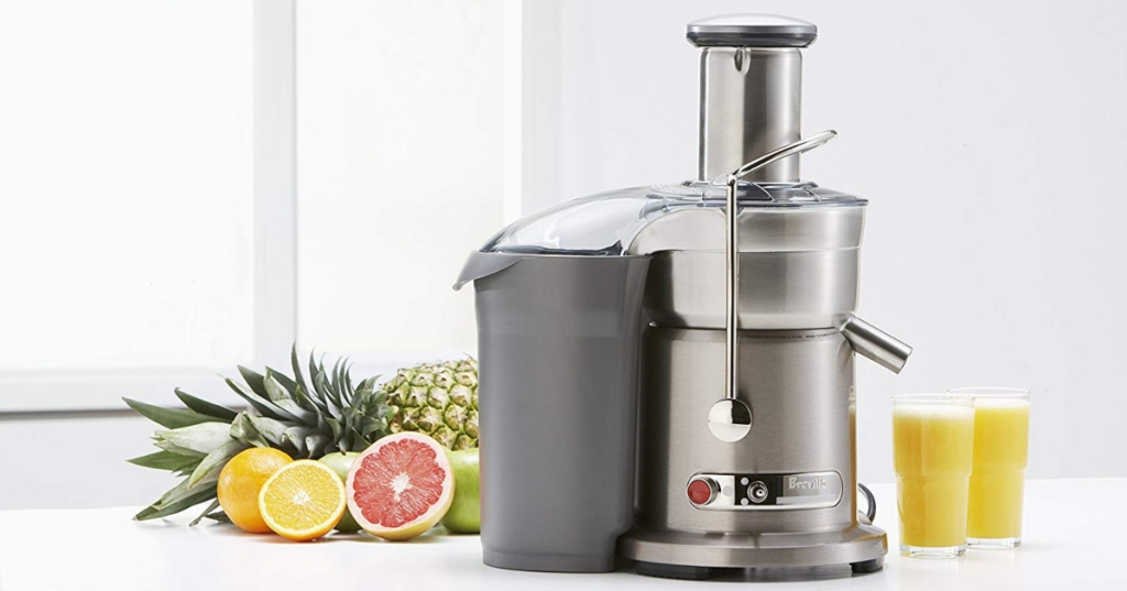 Breville juicer and fruit