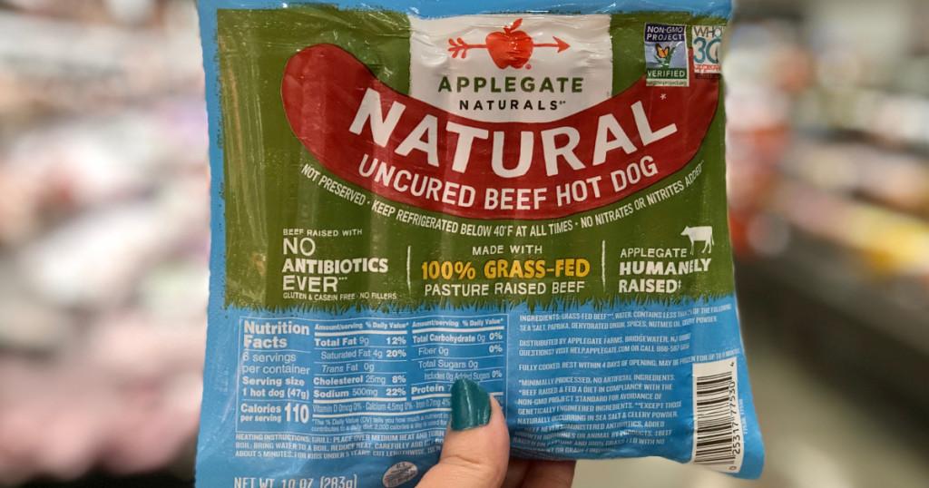 applegate farms hot dogs