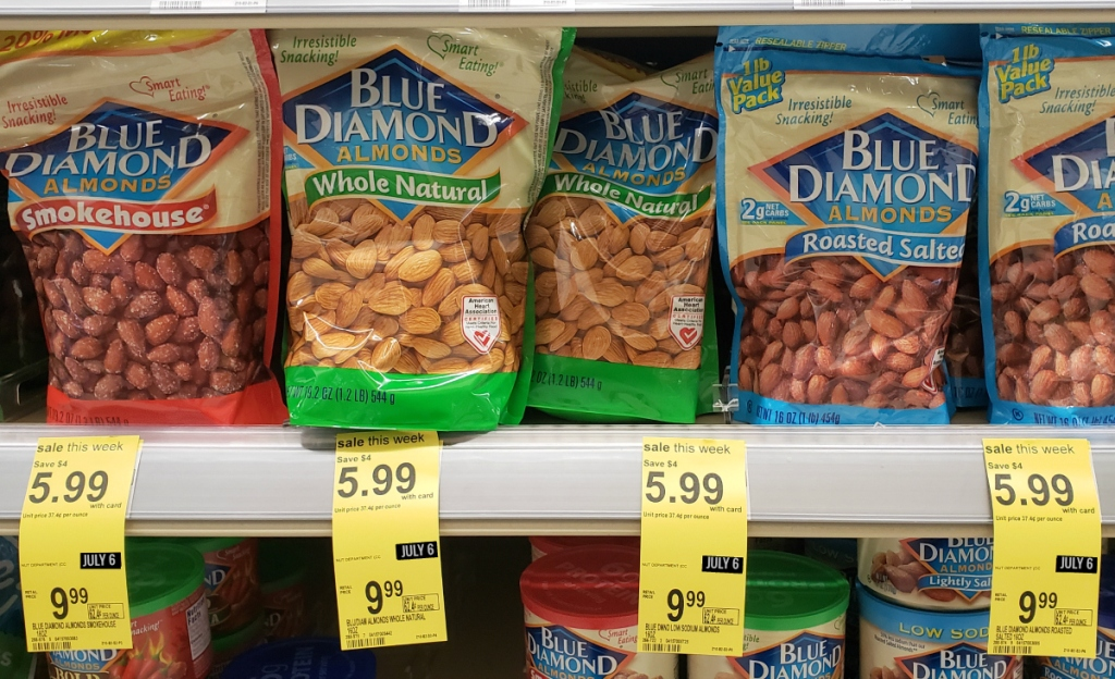 Blue Diamond nut deals at Walgreens