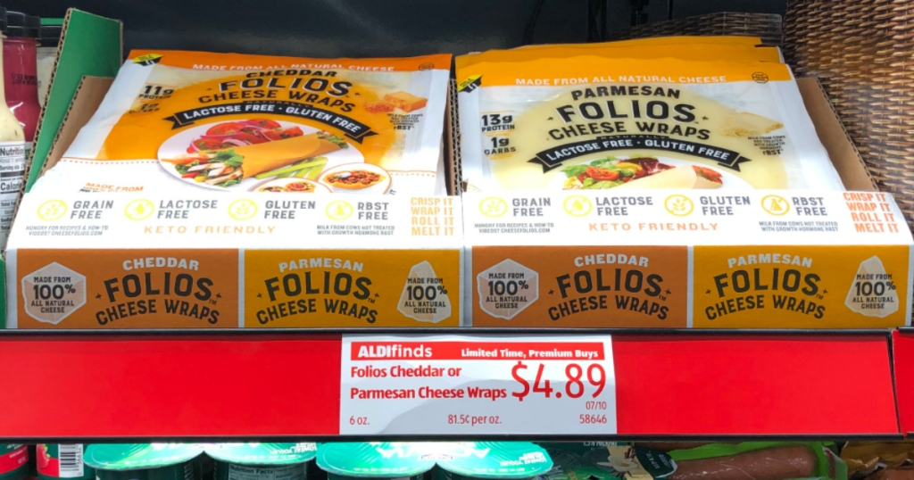 FOLIOS Cheese Wraps at ALDI