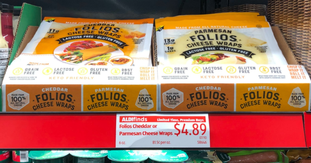 FOLIOS Cheese Wraps at ALDI