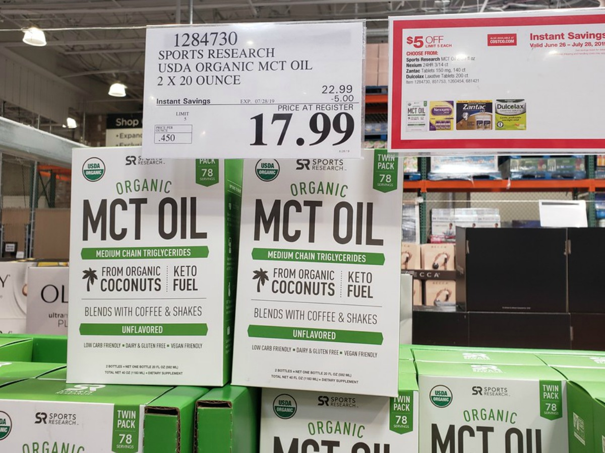 MCT Oil on the shelf at Costco