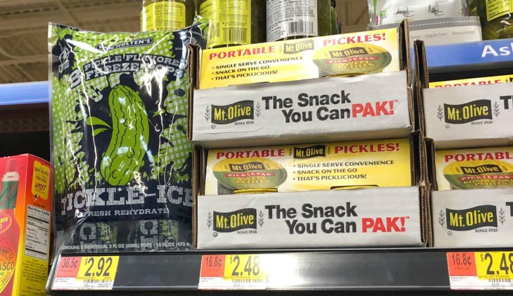 Pickle ice bag on shelf