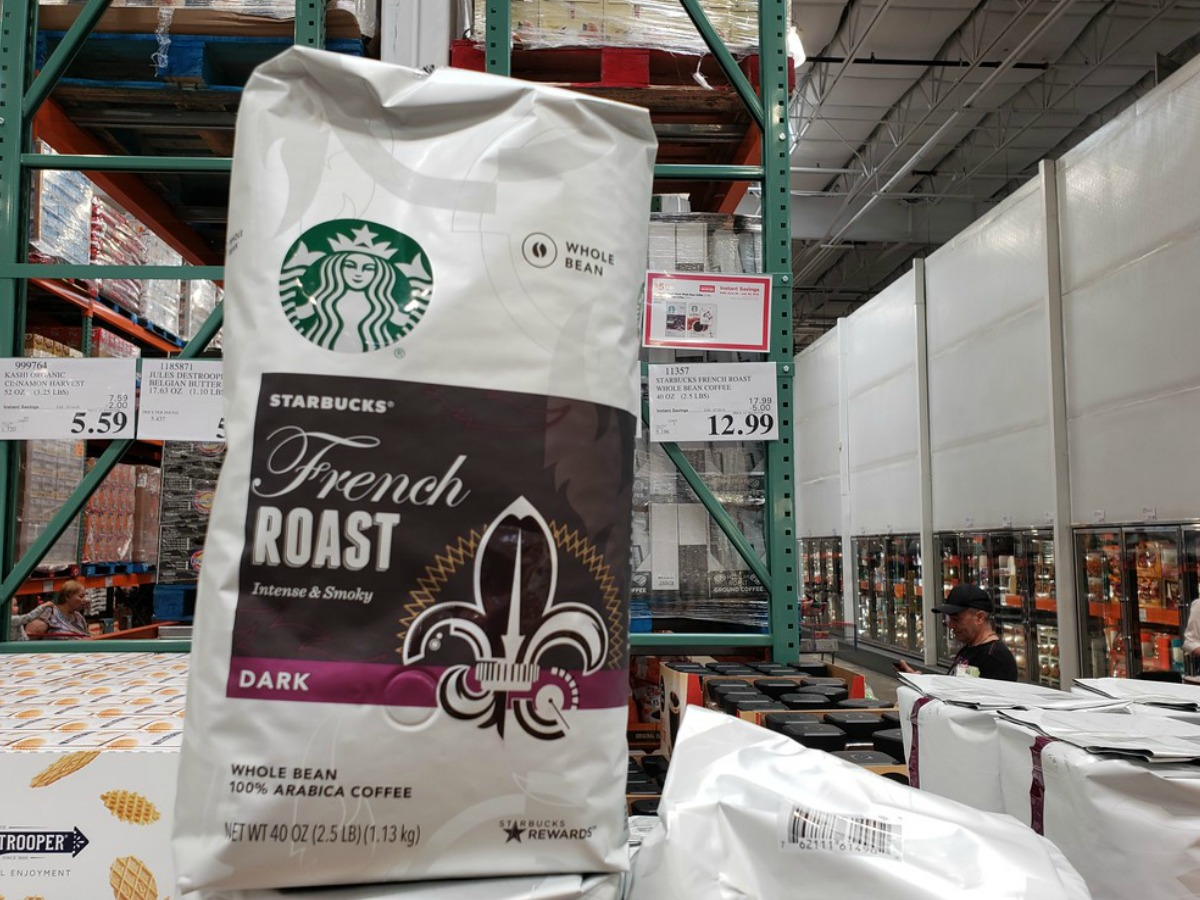 Starbucks coffee on the shelf at Costco