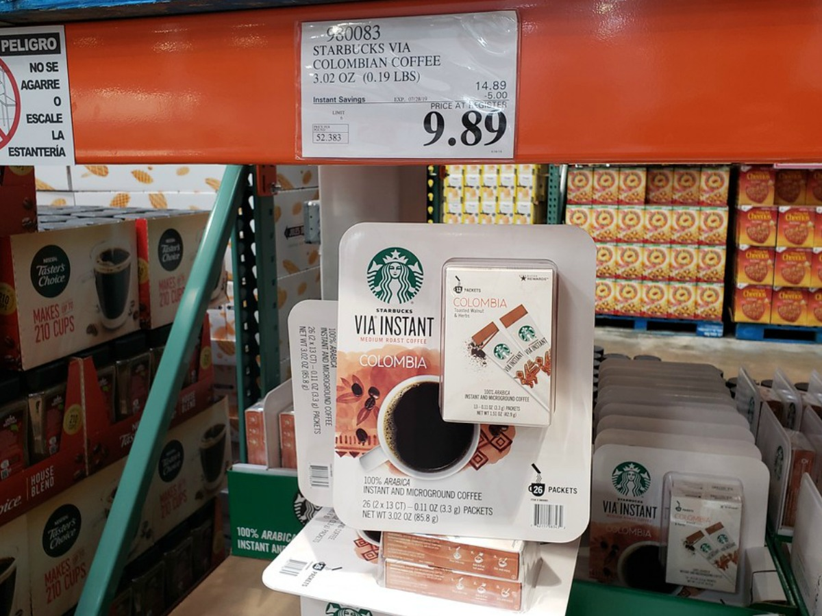 Starbucks Via coffee at Costco