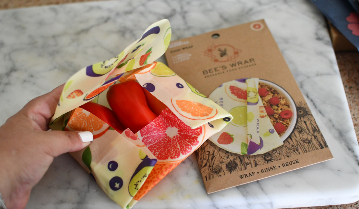 peppers wrapped in bee's wraps