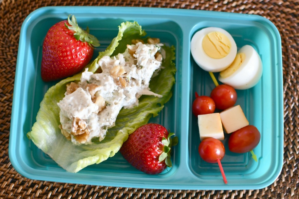 chicken salad bento box lunch