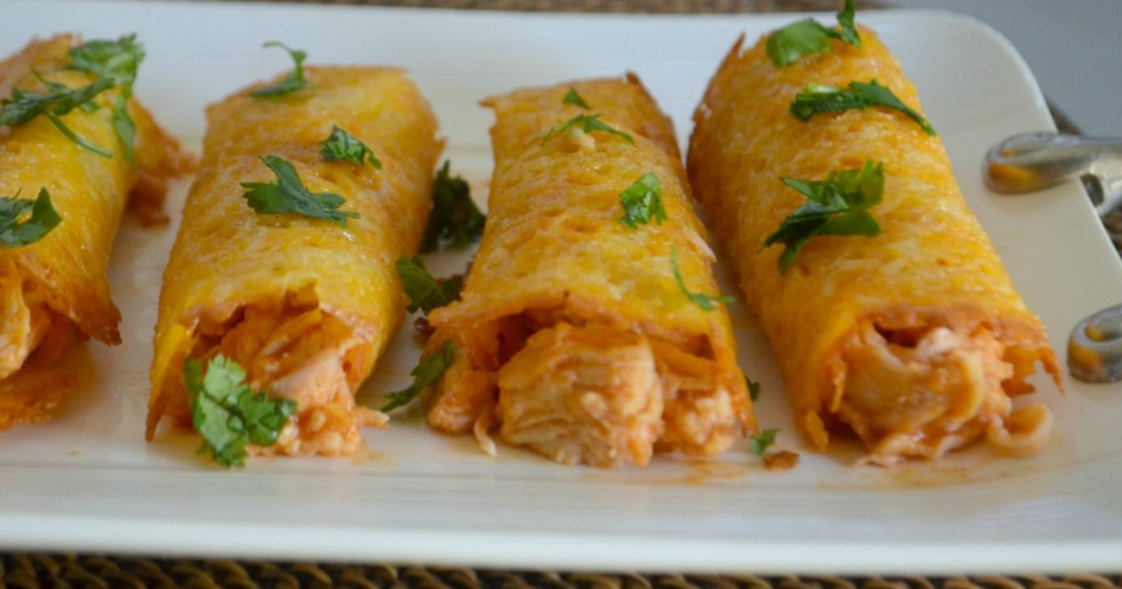 chicken taquitos on plate