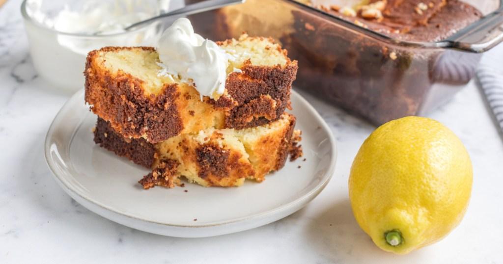 keto lemon pound cake slice