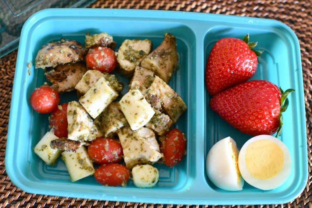 pesto chicken bento box lunch