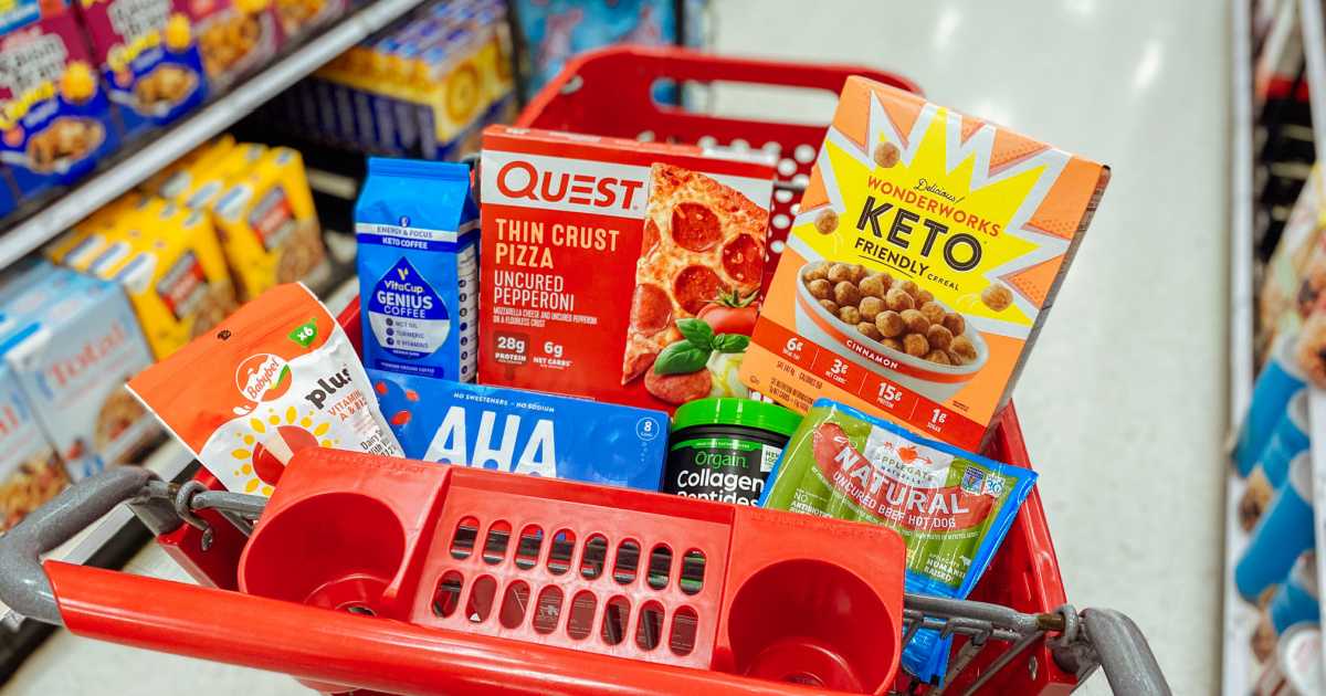 Target keto grocery items in cart