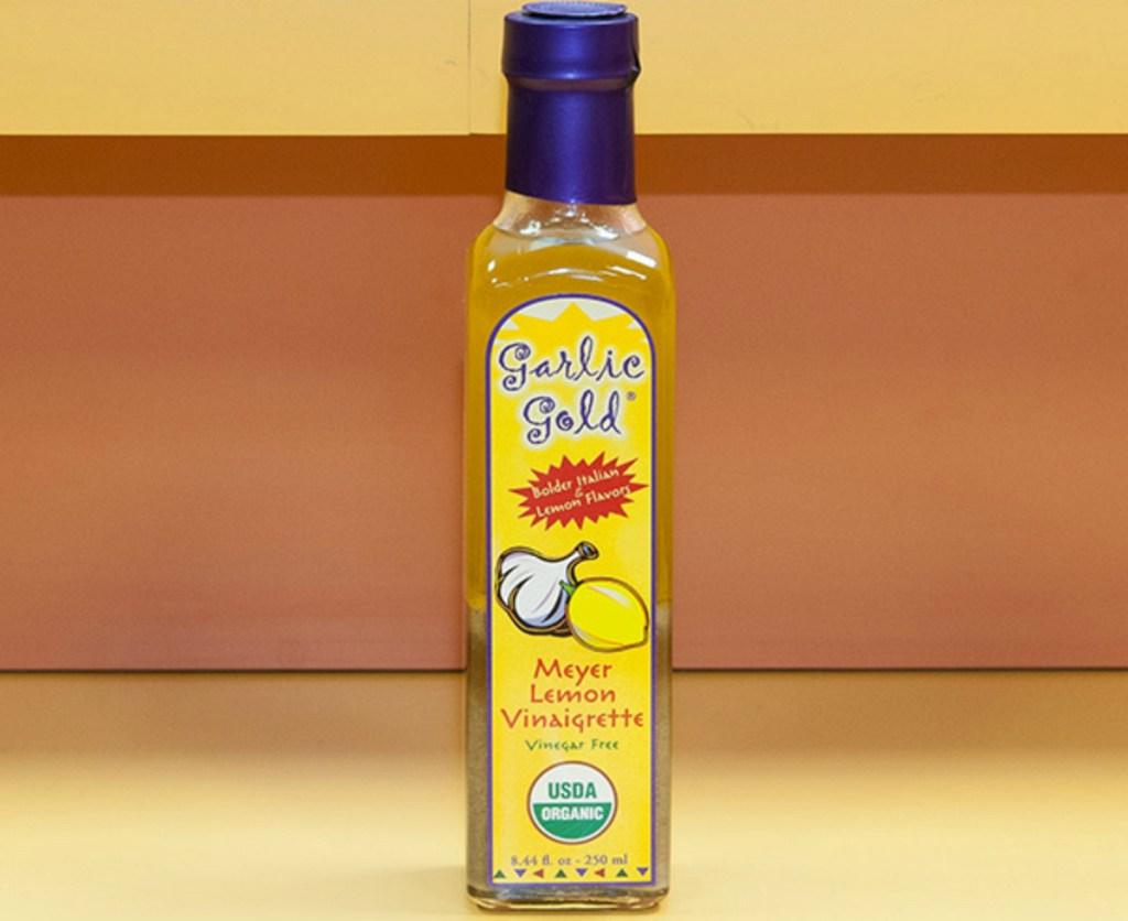 Garlic Gold Meyer Lemon keto salad dressing