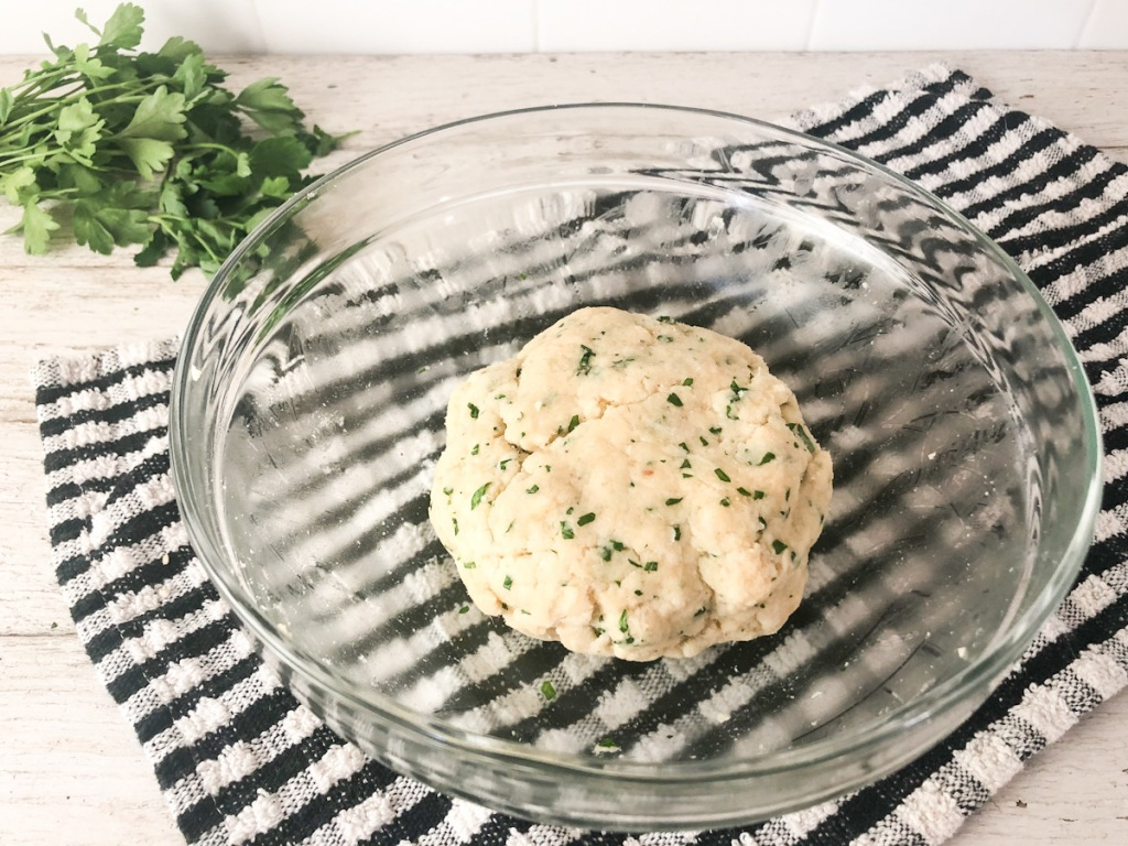 keto breadstick dough ball