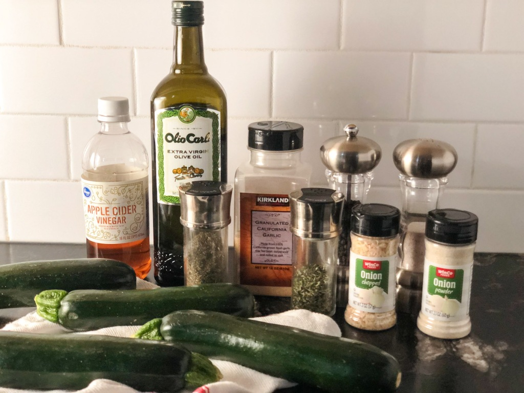 ingredients on a counter