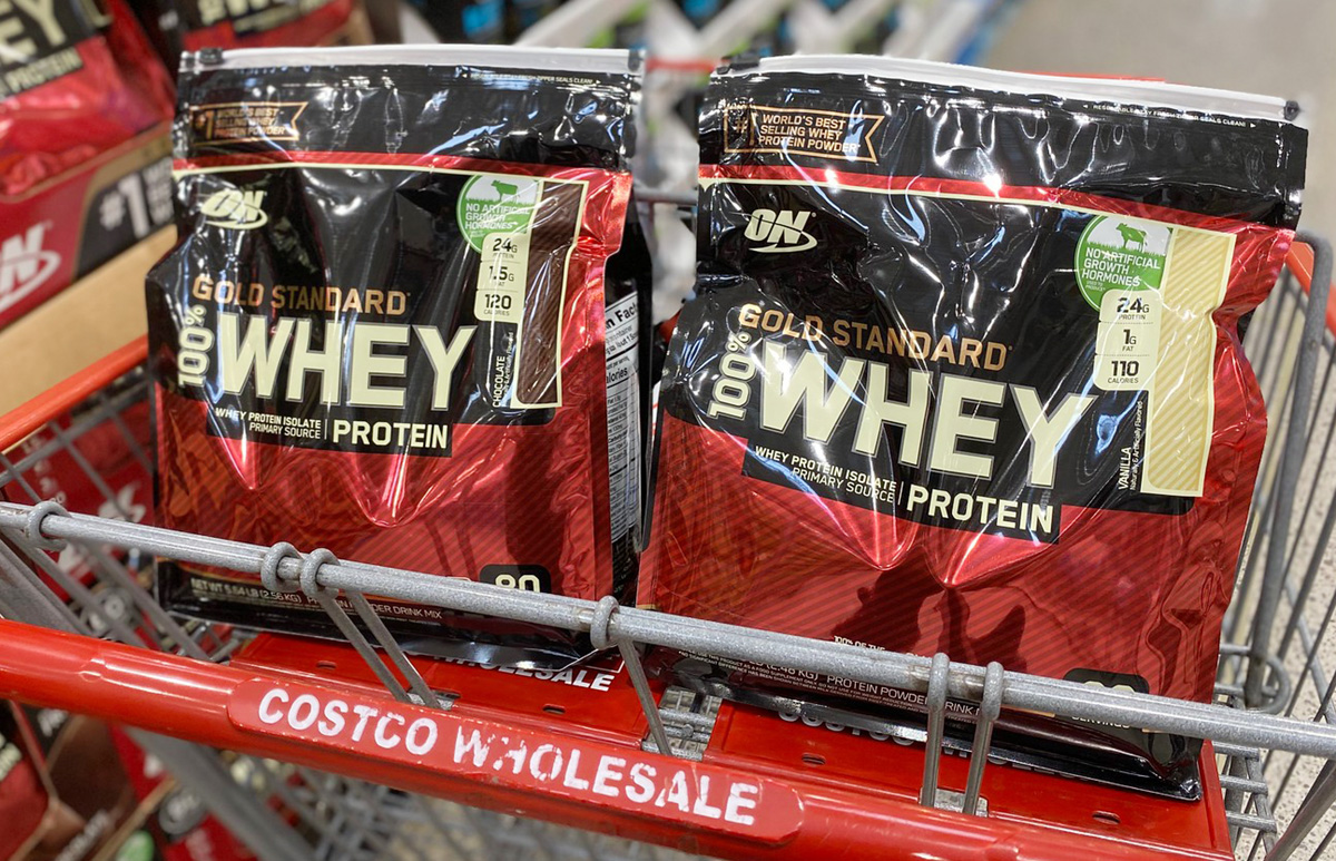ON Protein Powder in costco shopping cart