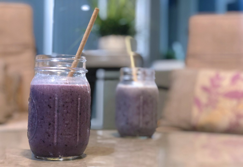 blueberry cauliflower smoothies