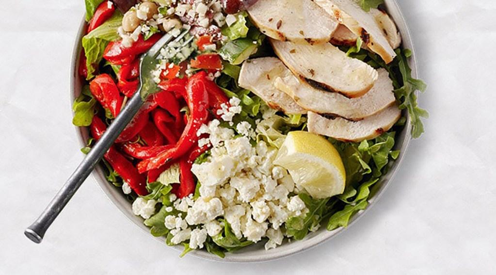 chicken cauliflower tabbouleh salad at starbucks