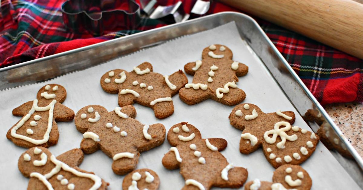 easy keto gingerbread cookies