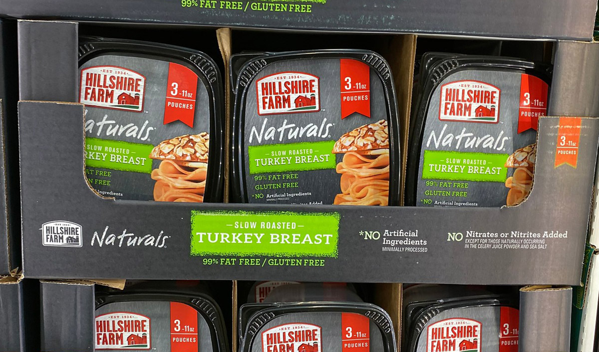 hillshire farm naturals turkey breast on display