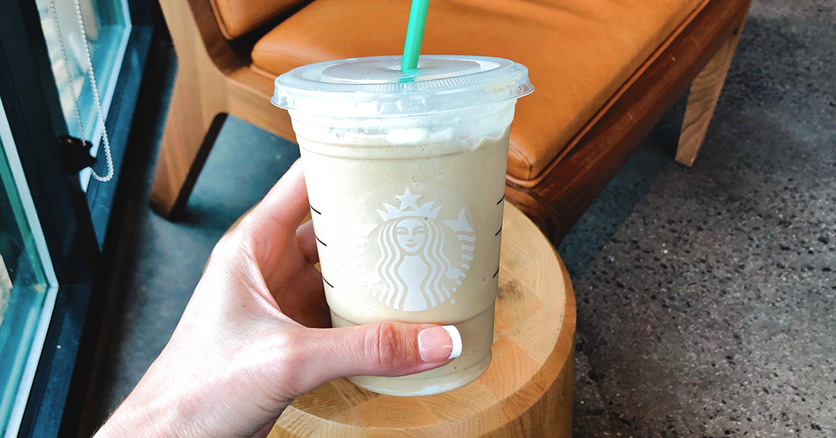 starbucks frappuccino inside restaurant