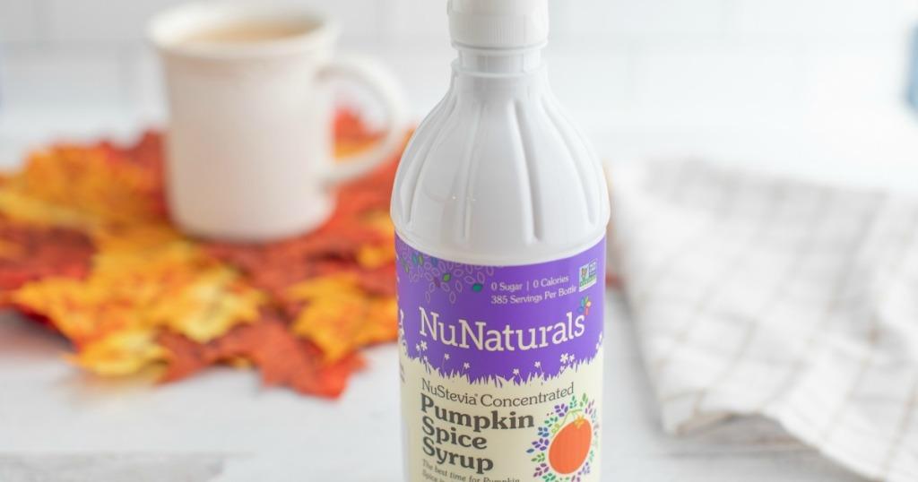 latte with NuNaturals Pumpkin Syrup
