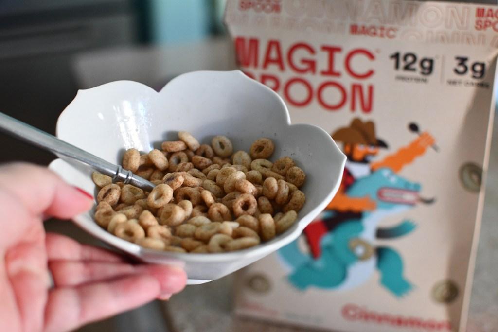 bowl of cinnamon magic spoon cereal