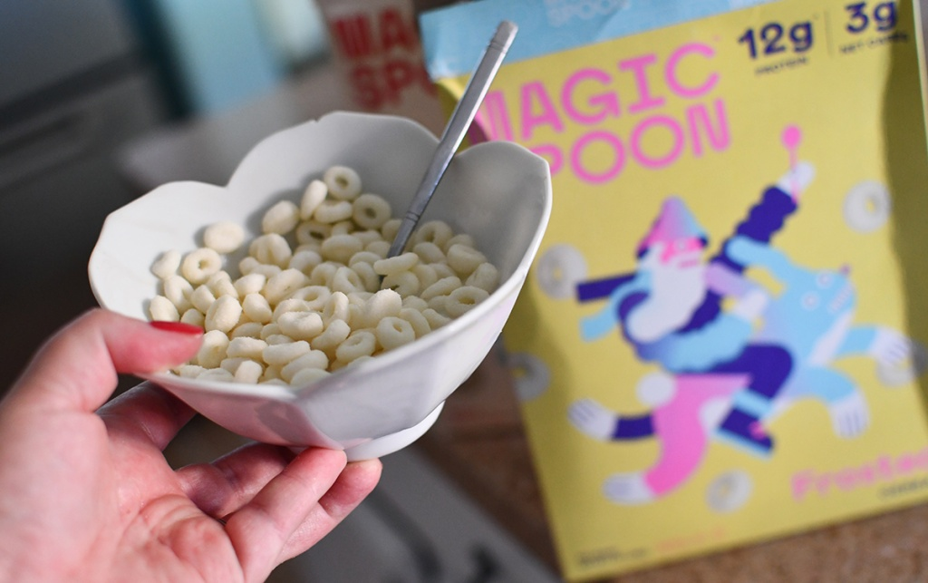 bowl of frosted magic spoon cereal