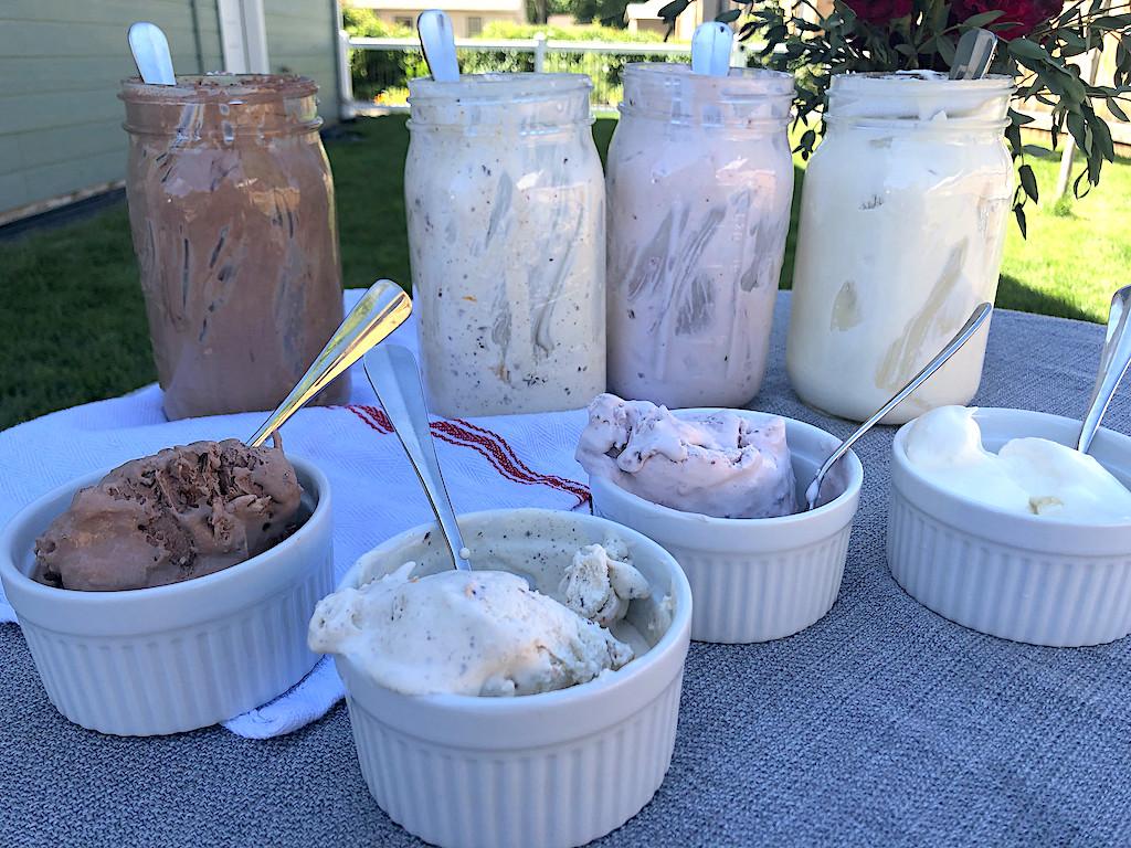 mason jar ice cream flavors