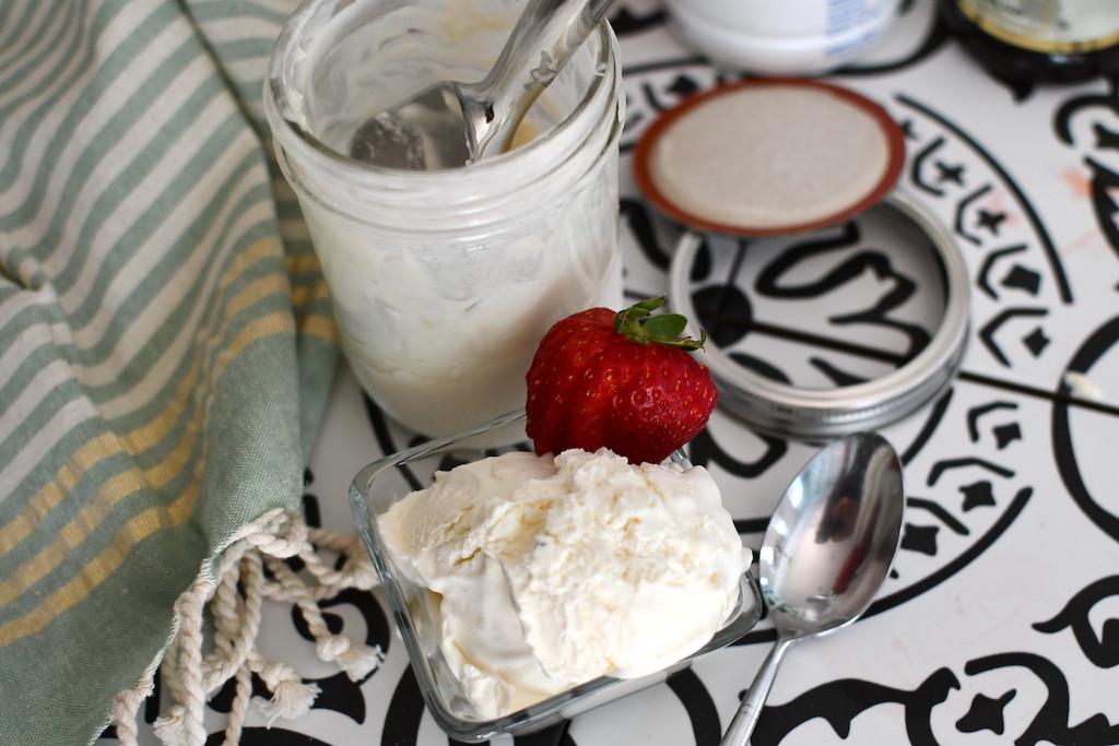 mason jar vanilla ice cream