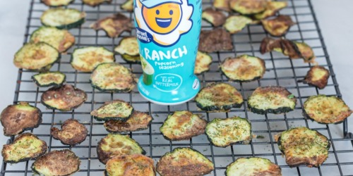 Air Fryer Ranch Zucchini Chips