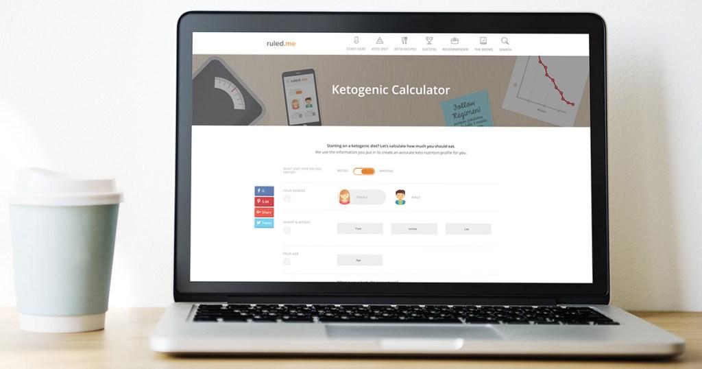 ruled.me keto calculator on macbook