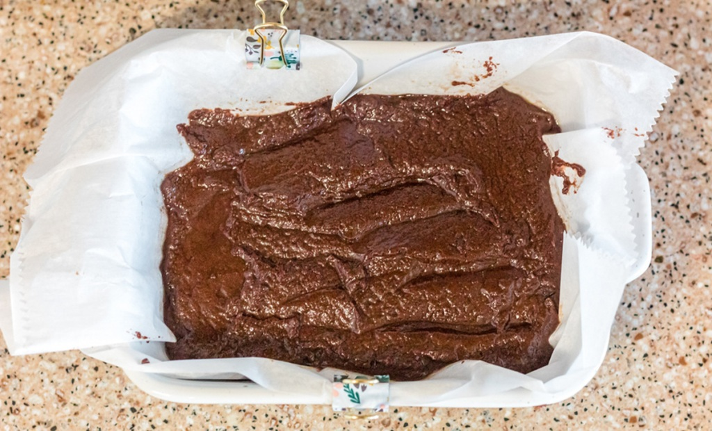Keto Chocolate Fudge in a pan