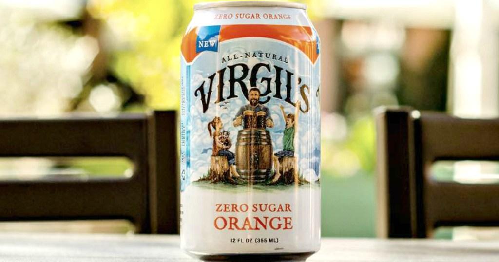 Virgil's Zero Sugar Orange soda