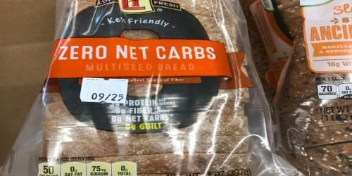 Zero Net Carb Bread at ALDI