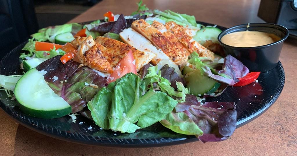 Buffalo Wild Wings chicken salad