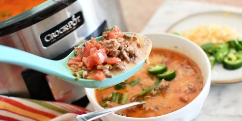 Make the BEST Keto Taco Soup in Your Crockpot!
