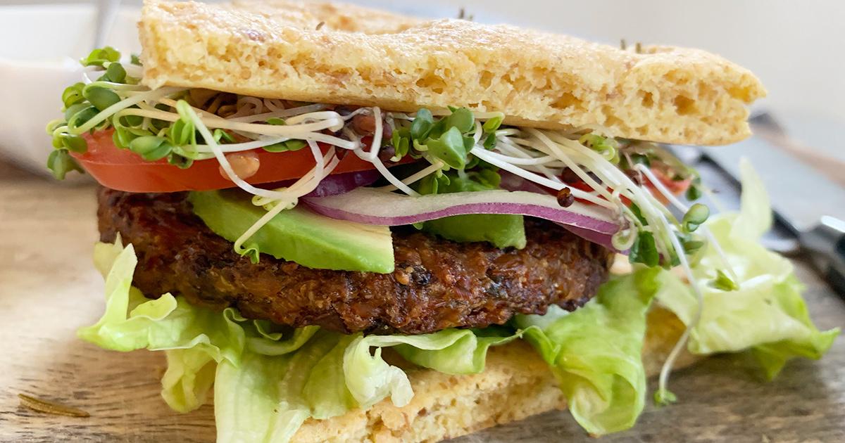 keto vegetarian veggie burger
