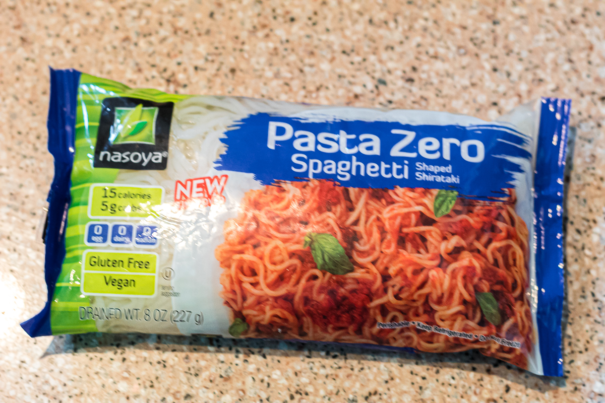 pasta zero bag of shirataki noodles