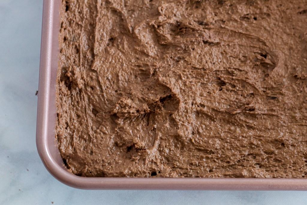pan of brownie batter