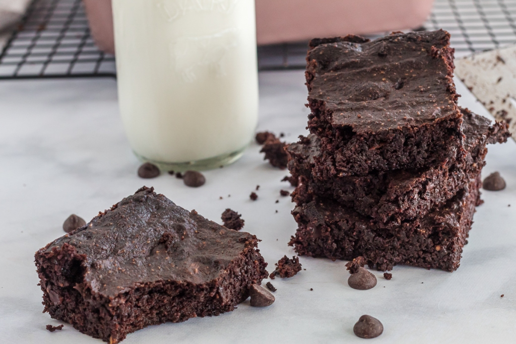 brownies with a bite out of one