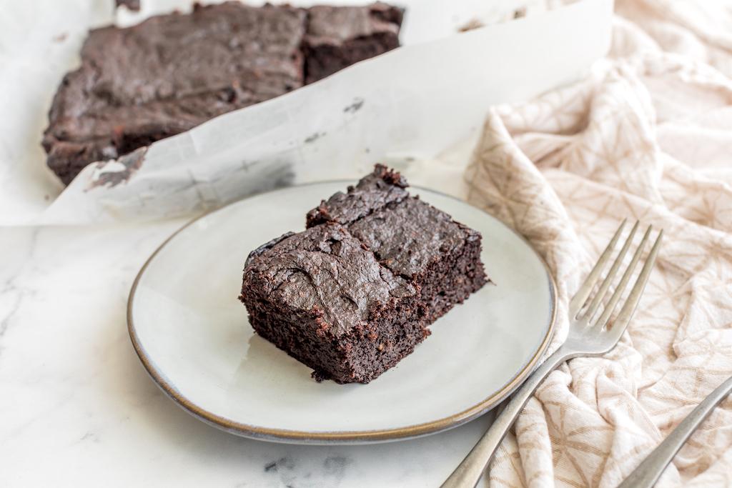 keto brownies on plate