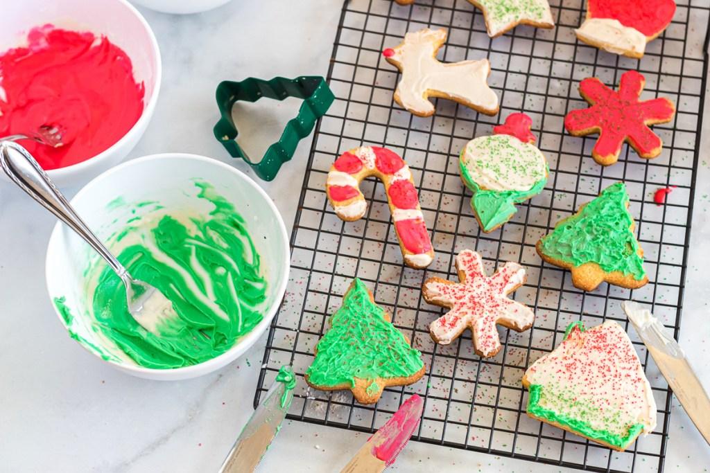 iced keto sugar cookies