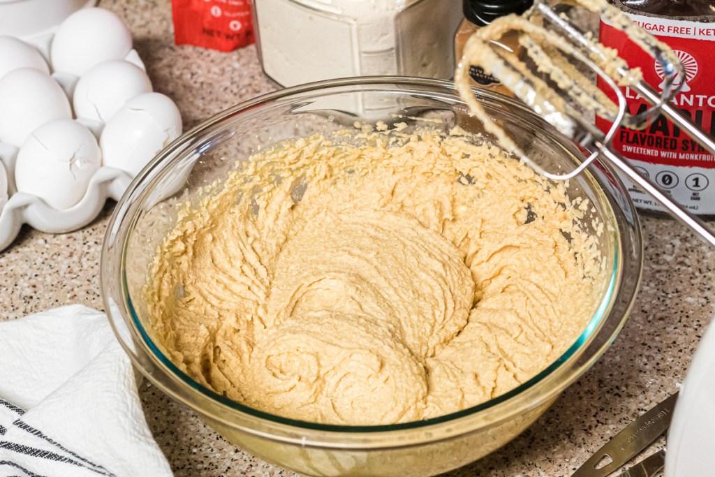 bread batter in bowl