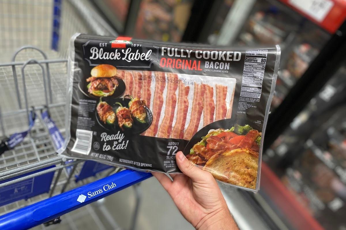 Black Label bacon at Sam's Club