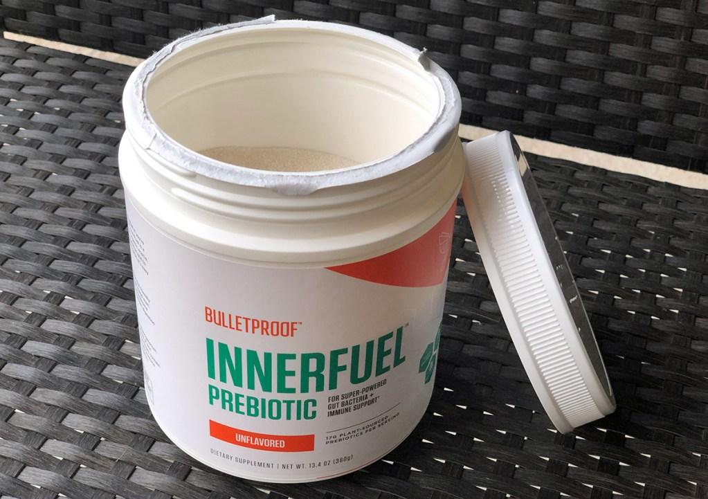 Bulletproof InnerFuel Prebiotic powder tub