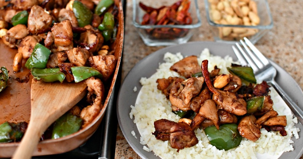 easy keto skillet kung pao chicken