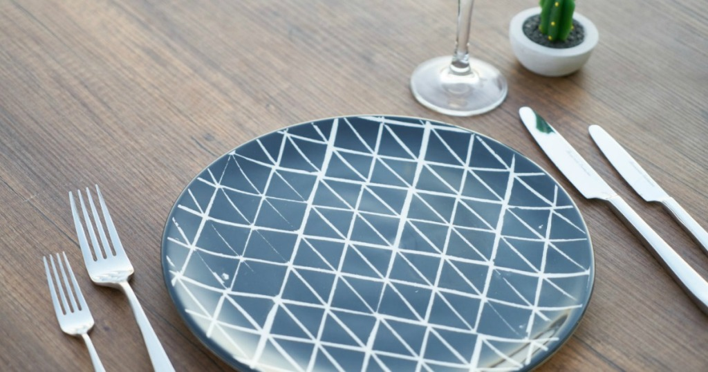 table setting with empty plate
