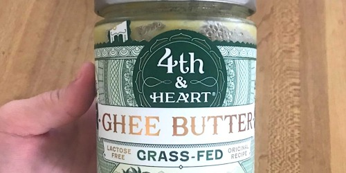 Save on Highly Rated 4th & Heart Grass-Fed Ghee Clarified Butter w/ This Amazon Coupon
