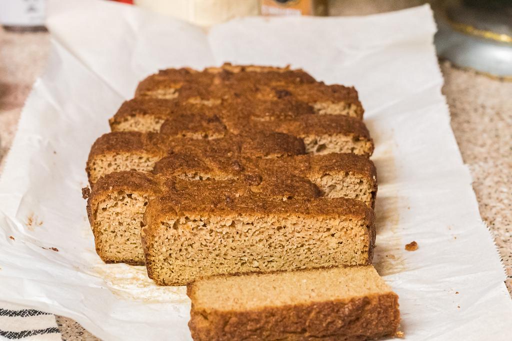 fall keto bread slices