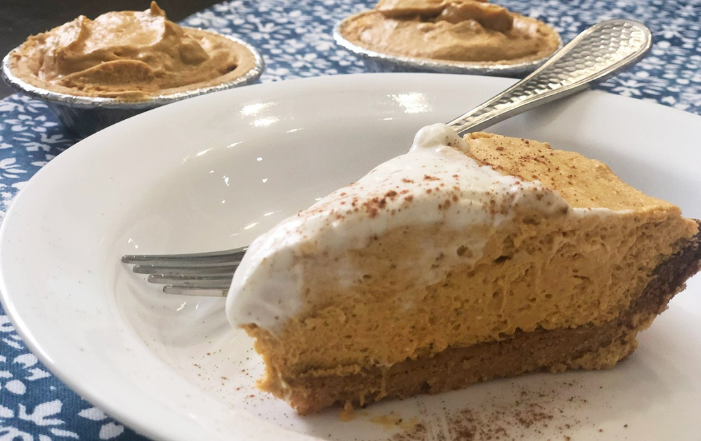 Keto Pumpkin Cream Pie slice
